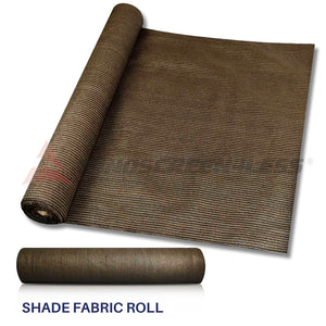 Custom 6 FT Brown Fabric Roll Fence Privacy Sun Wind Screen UV Block Shade Cloth