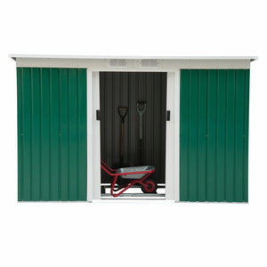 9'x4' Outdoor Garden Storage Shed All Weather Steel Garage Tool Utility House