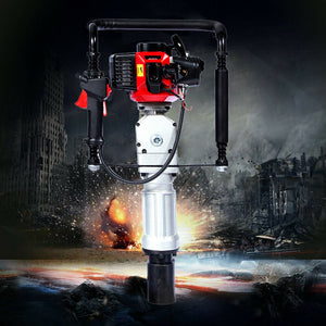 2-Stroke Gasoline Gas Powered T Post Push Pile Driver Engine 52CC 1900W Durable