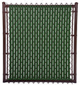 Chain Link Green Single Wall Ridged™ Privacy Slat For 5ft High Fence Bottom Lock