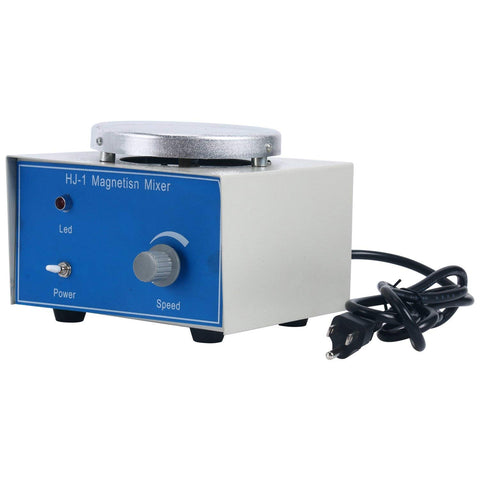 YaeCCC HJ-1 Magnetic Stirrer with 8X25mm Stirring Bars, 1000ml Volume, 2400rpm, 1 Year Warranty