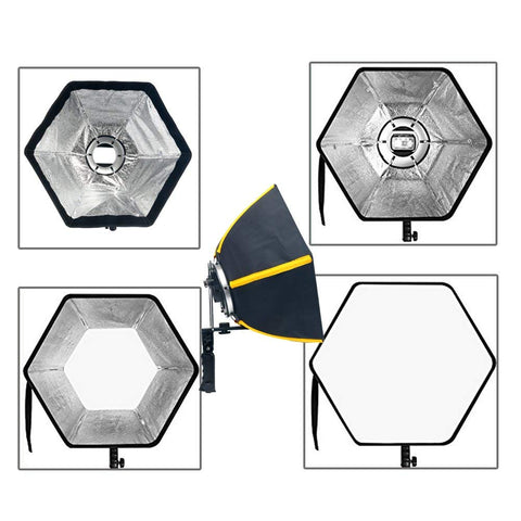 YaeCCC 20 inches/50 Centimeters Professional Hexagonal Soft Box Softbox with Handle Grip for Speed Light Studio Flash for Portrait or Product Photography
