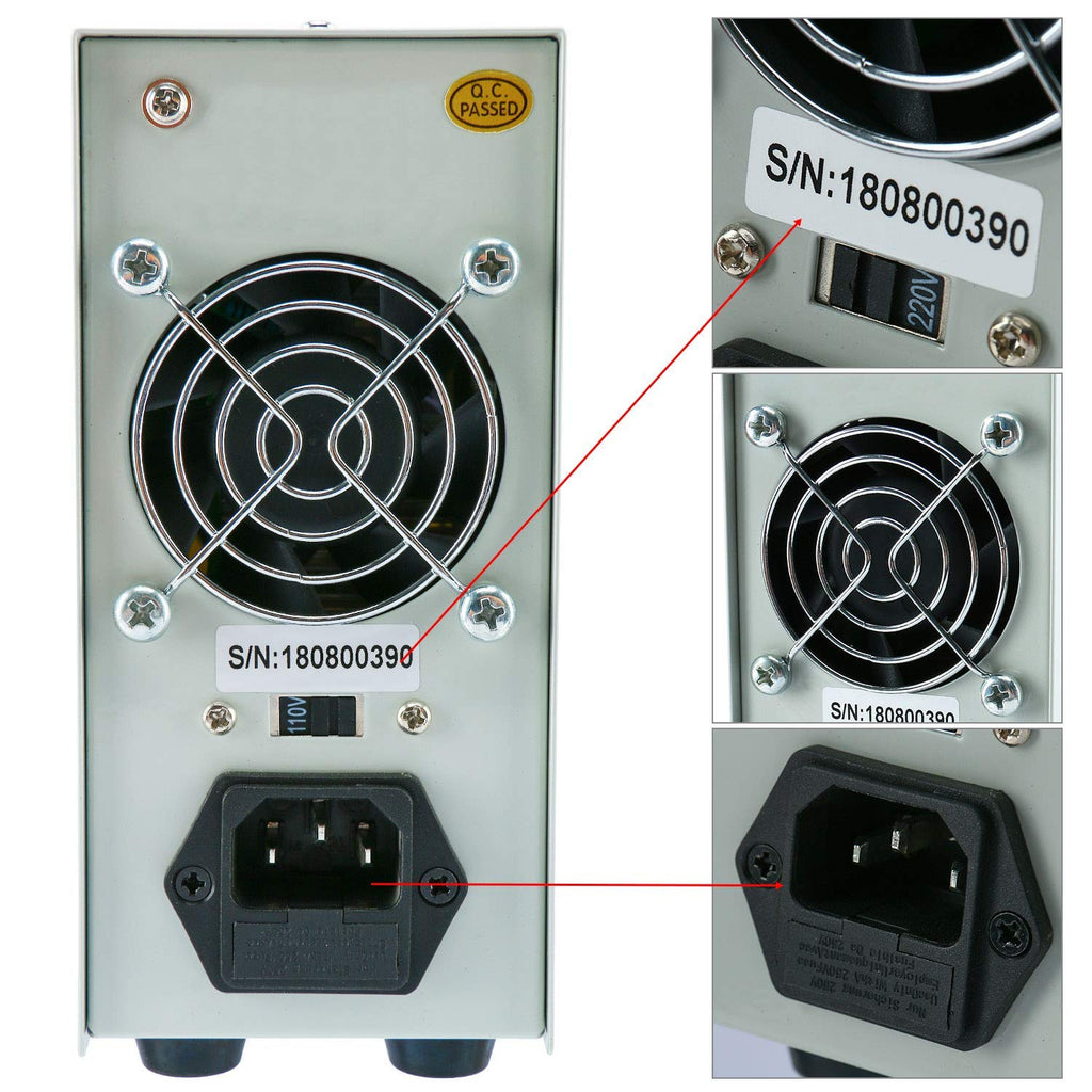 DC Power Supply Variable,0-30 V / 0-10 A Adjustable