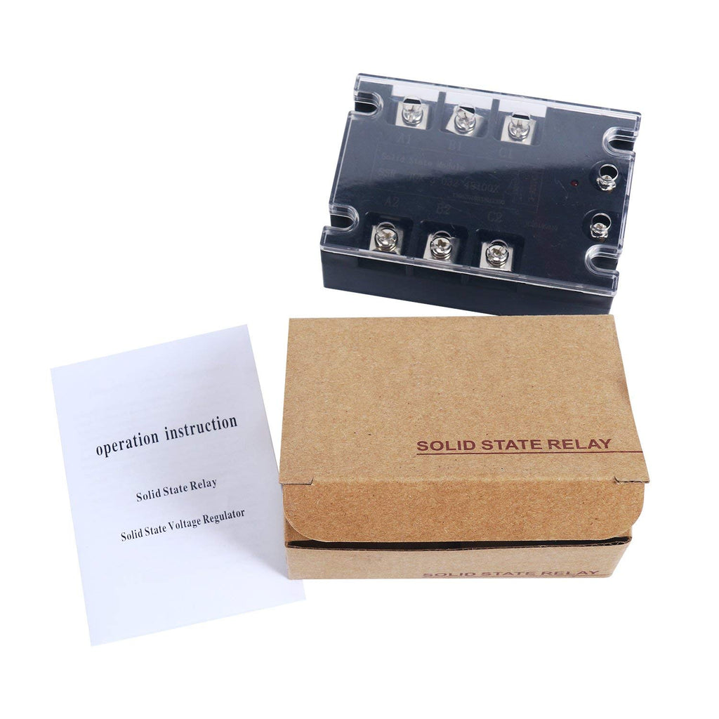 Three Phase Solid State Relay Ssr 100a 3 32vdc Input 480vac Output Working