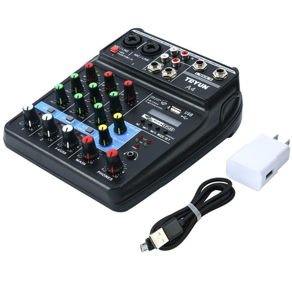 Mini Audio Mixer amplifier Amp Bluetooth board 48V Power 4 Channels