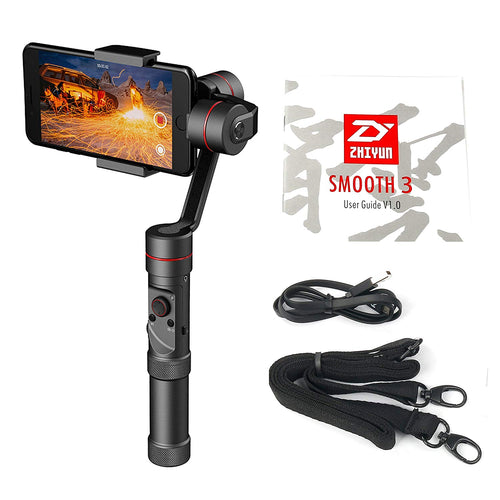 Zhiyun Smooth 3 3 Axis Brushless Handhold 360 Motors Degree Moving Stabilizer for iPhone 7, 6 Plus, 6, 5S, 5C, Samsung S6, S5, S4, S3, Note 4, 3, ect
