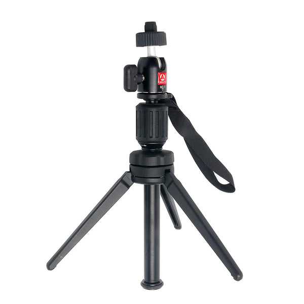 YaeCCC KINGJOY 14.2 inch/36 cm Aluminium Alloy KT-200 Tabletop Tripod 360 Degree Ball Head Compatible iPhone,Samsung,Huawei Smart Phone,Gopro,DSLR Camera 6lbs/2.7kg Load Capacity