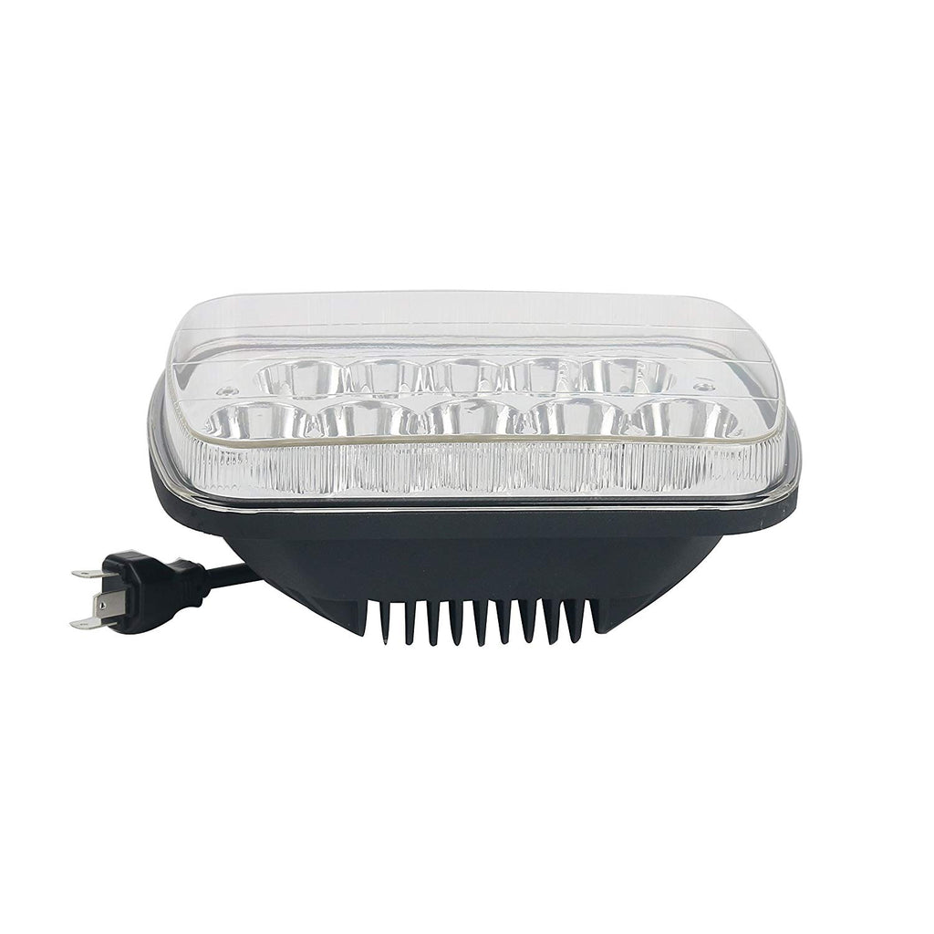 Yaeccc 2pcs 45w Rectangle 5x7 7x6 Led Headlight Sealed Beam Way Connector Wiring Products Compatible Jeep Wrangler Yj Xj