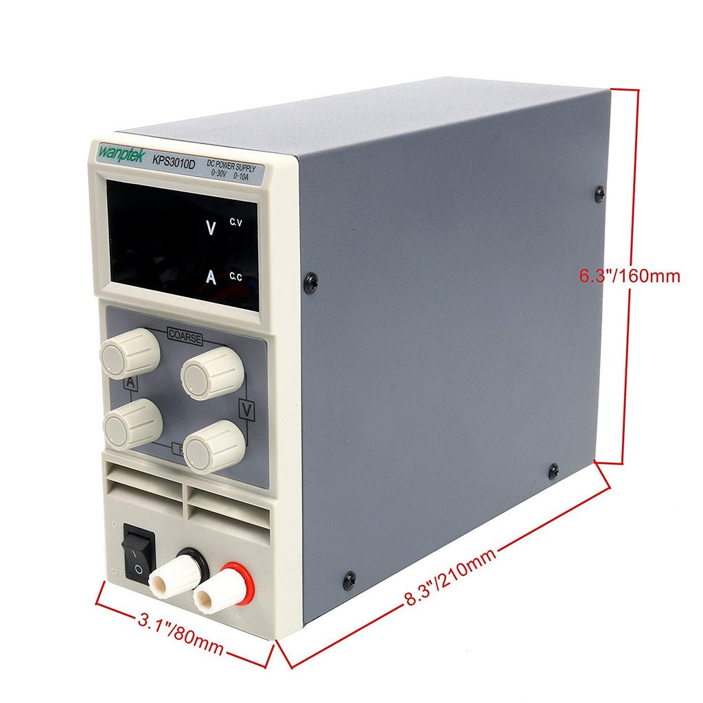 DC Power Supply Variable,0-30 V / 0-10 A YaeCCC KPS3010D Adjustable