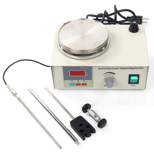 YaeCCC Magnetic Stirrer Hotplate with Heating Plate 85-2 Digital Magnetic Mixer AC 110V