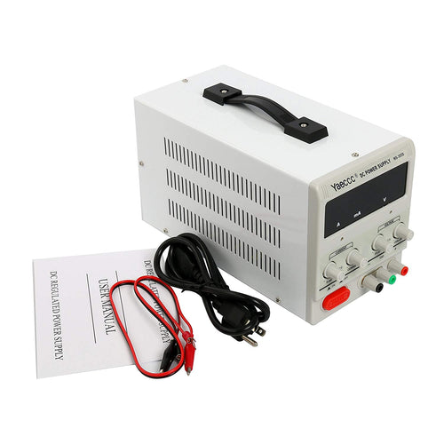 YaeCCC Variable Adjustable Lab DC Bench Power Supply 0-30V 0-5A -US Power Cord