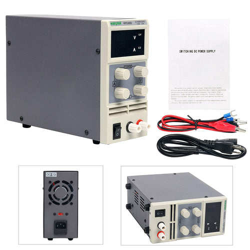 DC Power Supply Variable, YaeCCC KPS305D Adjustable Switching Regulated Power Supply Digital, 0-30 V 0-5 A with Alligator Leads US Power Cord