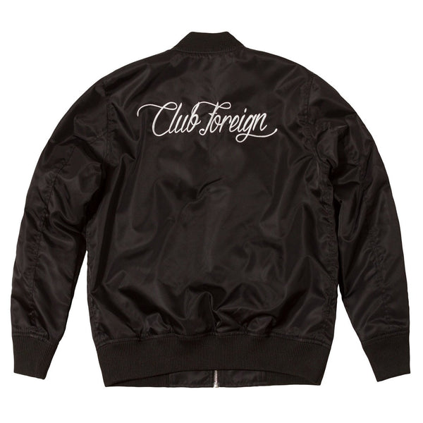 Club Foreign Performance Racing Bomber Jacket Black - Trends Society