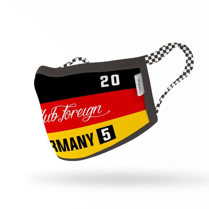 "ClubForeign Premium Reusable Fabric Face Masks ""Germany"""