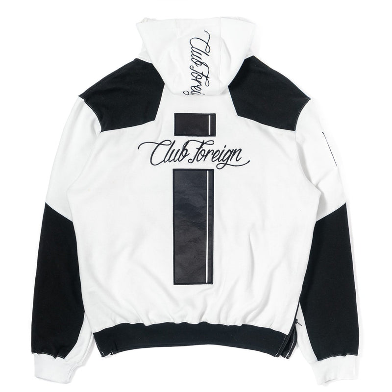 ClubForeign Sweatsuit Two Tone with Neck Zips, Black White