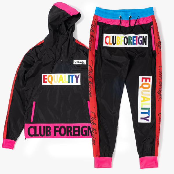 ClubForeign Equality Windbreaker Set Jacket and Pants Black - Trends Society