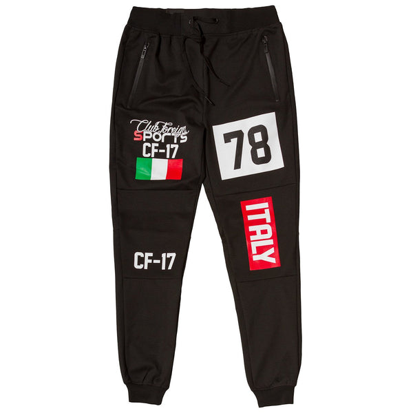 ClubForeign Sports Italy Series Pants Slim Fit Black - Trends Society