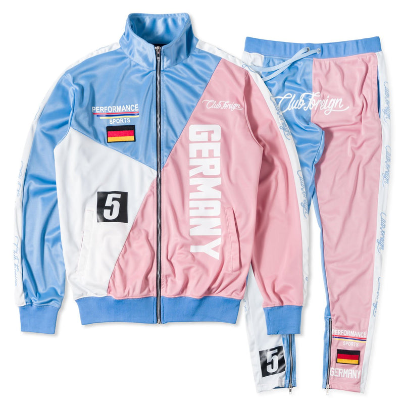 ClubForeign Color Block Tracksuit Jacket and Jogger Pants PBW - Trends Society