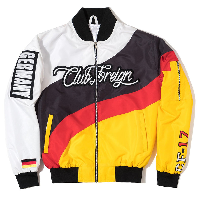 "Club Foreign Four Color Bomber Jacket ""Germany"" - Trends Society"