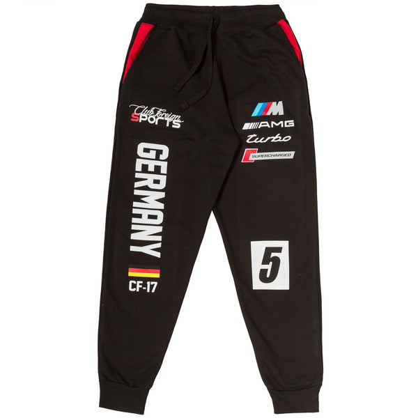 ClubForeign Sports Germany Series Pants Black / Red - Trends Society