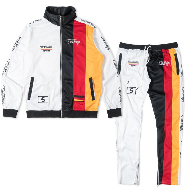 ClubForeign Three Stripes Tracksuit For Men Jacket and Pants - Trends Society