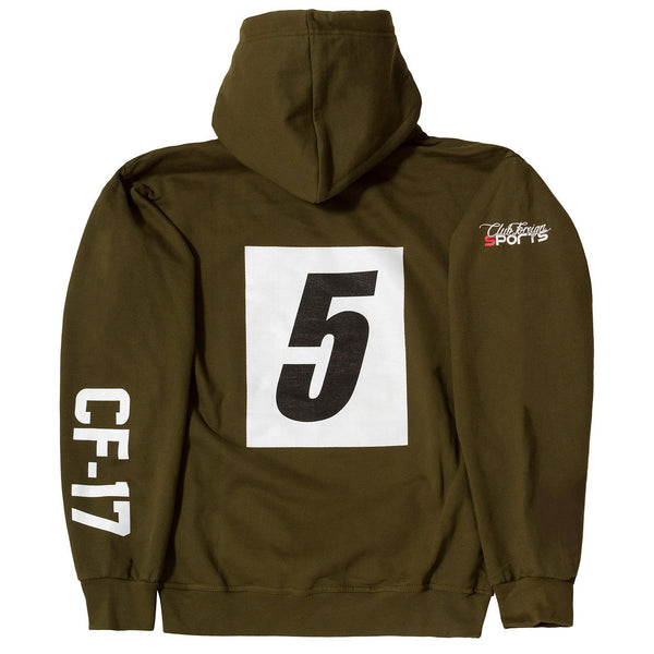 ClubForeign Sport Hoodie Jackets Germany Olive Green - Trends Society