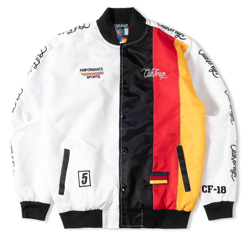 ClubForeign Performance Three Stripes Bomber Jacket - Trends Society