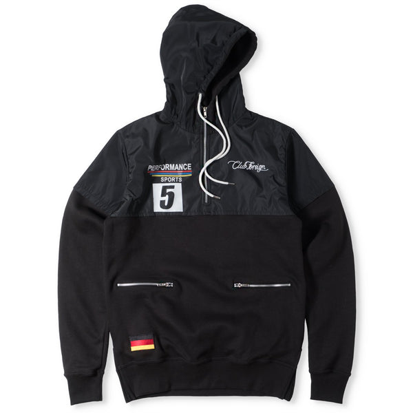 ClubForeign Performance Hoodie with Satin Top Black - Trends Society