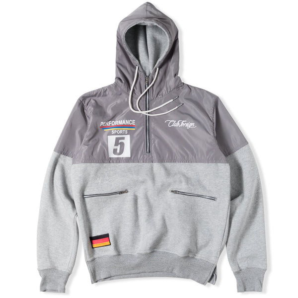 ClubForeign Performance Hoodie with Satin Top Grey - Trends Society