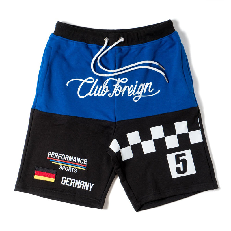 Club Foreign Performance T-shirt and Shorts Set Blue / Black - Trends Society
