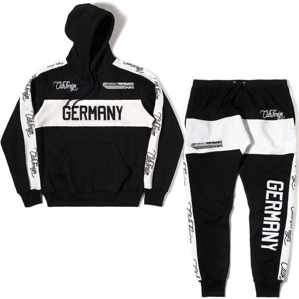 ClubForeign Germany Performance Embroidered Sweatsuit, Black - Trends Society