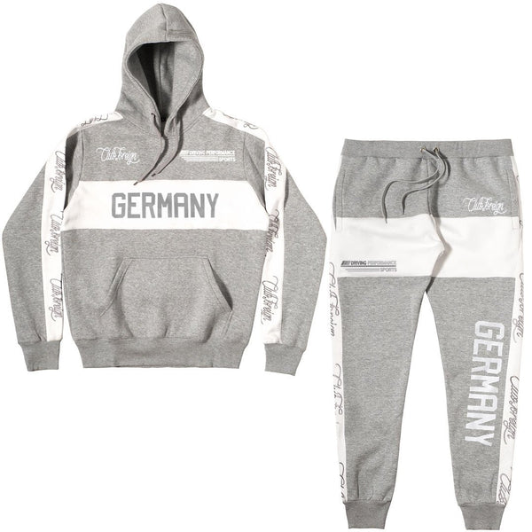 ClubForeign Germany Performance Embroidered Sweatsuit, Grey - Trends Society