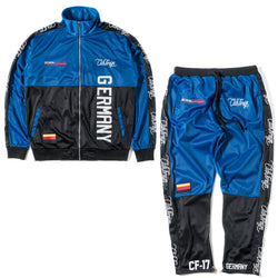 ClubForeign Performance Sports Suit Set Jacket and Pants Germany Blue - Trends Society