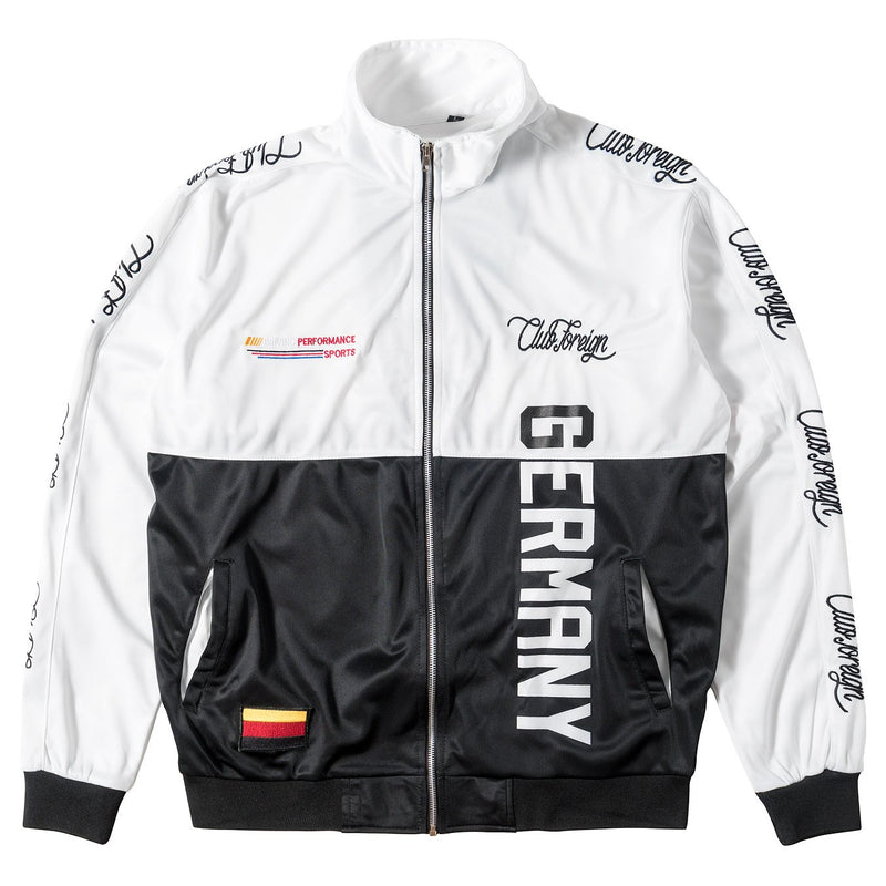 ClubForeign Performance Sports Suit Set Jacket and Pants Germany White - Trends Society
