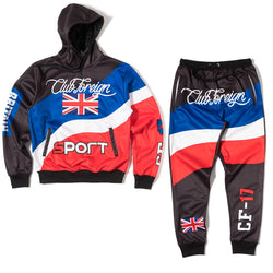 ClubForeign Sport Suit Three Color Set Hoodie and Pants Britain - Trends Society
