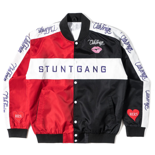"Club Foreign x Stuntgang Bomber Jacket ""His Hers"" - Trends Society"