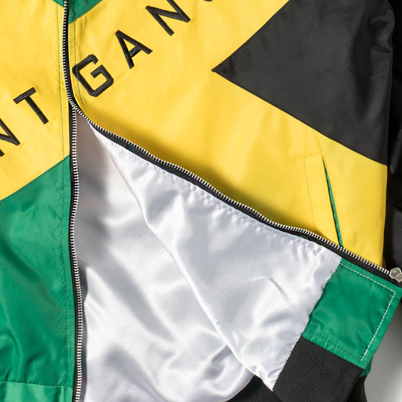 "Club Foreign x Stuntgang Bomber Jacket ""Jamaican Flag"" - Trends Society"