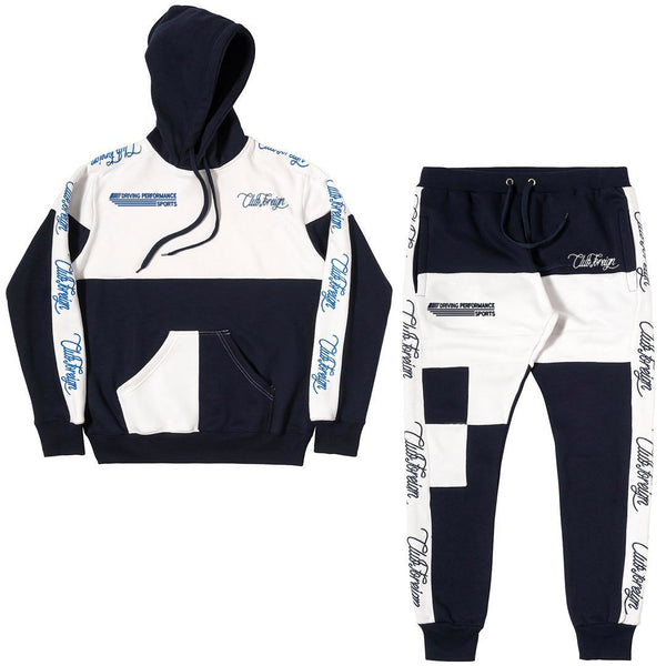 ClubForeign Bavarian Performance Embroidered Sweatsuit, Dark Blue - Trends Society