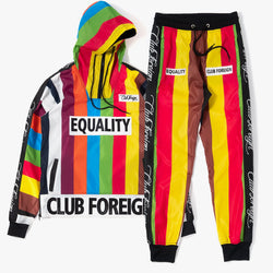 ClubForeign Equality Windbreaker Set Jacket and Pants Multi-color - Trends Society
