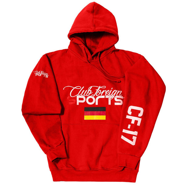 ClubForeign Sport Hoodie Jackets Germany Red - Trends Society