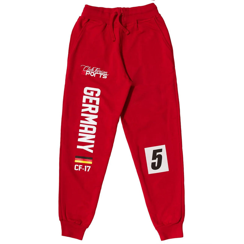 ClubForeign Sports Germany Series Pants Red - Trends Society