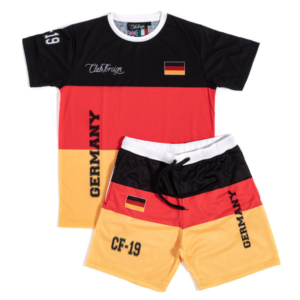 Club Foreign T-shirt and Shorts Set Germany