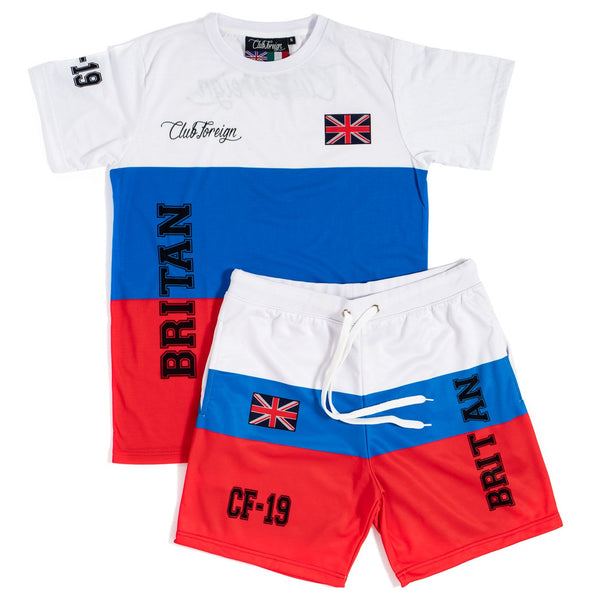 Club Foreign T-shirt and Shorts Set Britain