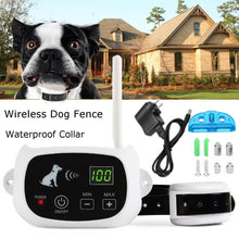 Wireless Dog Fence Pet Containment System Transmitter Collar Waterproof Rechargeable Pet Trainer Dog Pet Electronic Fence