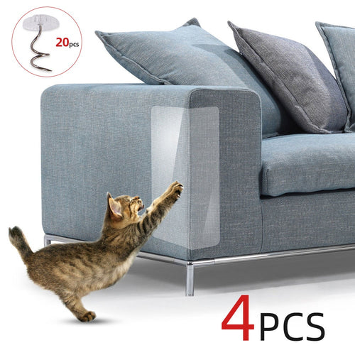 4pcs Couch Cat Scratch Guards Mat Scraper Cat Tree Scratching Claw Post Protector Sofa For Cats Paw Pad Protecting Pet Furniture