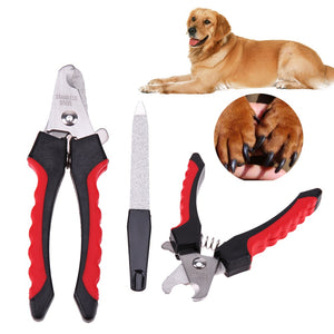 Stainless Steel Pet Dog Nail Grinder Clippers Cat Claw Nail Scissor Cutter with Nail File Grooming Scissor Dog Nails Trimming