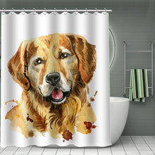 Pet Dog Print Shower Curtains Waterproof Fabric Polyester Bath Screen Hippie Home Bathroom Boho Decoration Home Decor