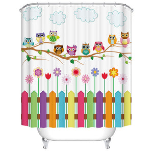 Animals Dog Pet Cat Horse Flamingo Bird Shower Curtain Bathroom Curtain Frabic Waterproof Polyester with Hooks