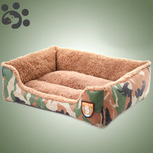 Big Large Hot Dog Bed for Large Medium Small Dogs Camo Plush Dog Bed House Baskets Mat Pet Beds for Dogs Cats Pet Prducts