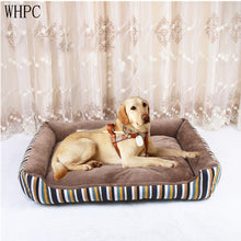 WHPC New Stripe Pet Bed For Large Middle Small Dogs And Cats Soft Warm Dogs Bed Sofa Lounger For Pets Puppy Bed Nest Wholesale